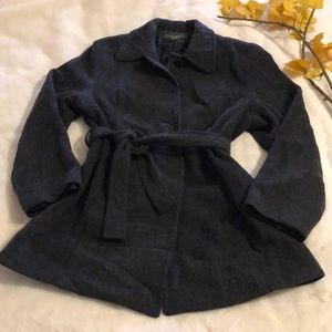 Banana Republic Charcoal gray belted pea coat